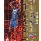 ALEXIS AJINCA 2009-10 Upper Deck UD Signature Collection #1 AUTO Autograph ROOKIE Charlotte Bobcats