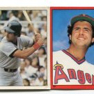 (2) FRED LYNN 1981-82 Topps Sticker Lot ANGELS Boston RED SOX