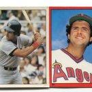 (2) FRED LYNN 1981-82 Topps Sticker Lot ANGELS Boston RED SOX