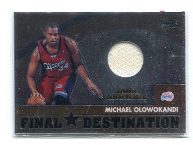 MICHAEL OLOWOKANDI 2002-03 Topps Chrome #FD-MO JERSEY L.A. Clippers