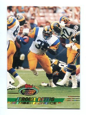 Jerome Bettis 1993 Topps Stadium Club Members Choice 506