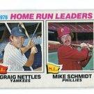 MIKE SCHMIDT / CRAIG NETTLES 1977 Topps LL #2 Philadelphia Phillies NY Yankees