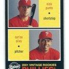 NICK PUNTO / CARLOS SILVA 2001 Upper Deck UD Vintage #242 ROOKIE Philadelphia Phillies