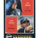 NICK JOHNSON / ERICK ALMONTE 2001 Upper Deck UD Vintage #125 ROOKIE New York NY Yankees