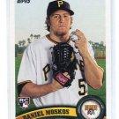 DANIEL MOSKOS 2011 Topps Update Series #US180 ROOKIE Pittsburgh Pirates
