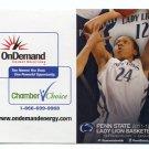 MIA NICKSON 2011-12 Penn State Women's Basketball Schedule FULL SIZED