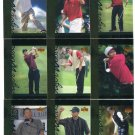 (9) TIGER WOODS 2001 Upper Deck UD Tiger's Tales ROOKIE LOT 2