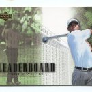 TIGER WOODS 2001 Upper Deck Leaderboard #90 ROOKIE PGA