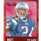 TY LAW 2011 Big 33 OH High School Honorary Chairman card PATRIOTS Michigan WOLVERINES