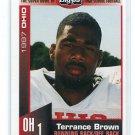TERRANCE BROWN 1997 Big 33 High School card SOLON HS RB / DB