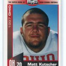 MATT KUTSCHER 1997 Big 33 Ohio High School card COLORADO Buffalo OG / DT