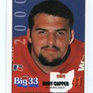 ANDY CAPPER 2000 Big 33 High School card MIAMI of OHIO RB