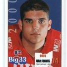 DAN DAVIS 2000 Big 33 High School card EASTERN MICHIGAN DL