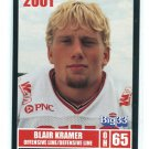 BLAIR KRAMER 2001 Big 33 High School card BALL STATE OL / DL