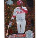 DOMONIC DOMINIC BROWN 2011 Topps COGNAC DIAMOND SPARKLE SP Variation #421 Philadelphia Phillies