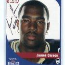 JAMES CARSON 2005 Big 33 Pennsylvania High School card AUTO Autograph