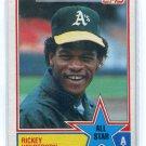 RICKEY HENDERSON 1983 Topps All-Star #391 Oakland A's