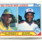 RICKEY HENDERSON / TIM RAINES 1983 Topps LL #704 Oakland A's