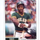 RICKEY HENDERSON 1984 Topps Highlight #2 Oakland A's