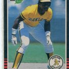RICKEY HENDERSON 1985 Leaf #208 Oakland A's