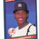RICKEY HENDERSON 1986 Donruss #51 New York NY Yankees