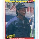 RICKEY HENDERSON 1987 Fleer Baseball's Best #18 New York NY Yankees