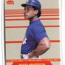 RICKEY HENDERSON 1987 Fleer Headliner INSERT #4 New York NY Yankees