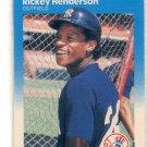 RICKEY HENDERSON 1987 Fleer #101 New York NY Yankees