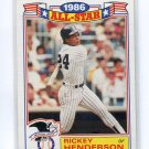 RICKEY HENDERSON 1987 Topps All-Star Glossy #18 New York NY Yankees