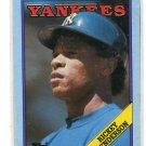 RICKEY HENDERSON 1988 Topps Box Bottom #M New York NY Yankees