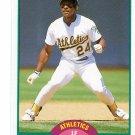 RICKEY HENDERSON 1989 Score Traded #50T Oakland A's