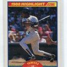 RICKEY HENDERSON 1989 Score Highlight #657 New York NY Yankees