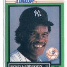 RICKEY HENDERSON 1989 Starting Line-Up SLU Card New York NY Yankees