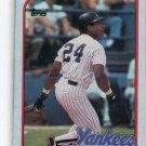 RICKEY HENDERSON 1989 Topps Box Bottom #F New York NY Yankees