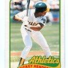 RICKEY HENDERSON 1989 Topps Traded #48T Oakland A's