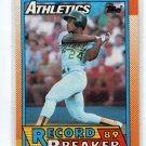 RICKEY HENDERSON 1990 Topps RB  #7 Oakland A's