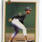 RICKEY HENDERSON 1990 Bowman #457 Oakland A's