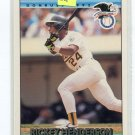 RICKEY HENDERSON 1992 Donruss All-Star #30 Oakland A's