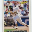 RICKEY HENDERSON 1992 Donruss Highlights #215 Oakland A's
