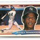 RICKEY HENDERSON 1988 Topps Big #165 New York NY Yankees