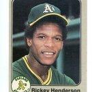RICKEY HENDERSON 1983 Fleer #519 Oakland A's