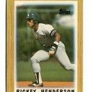 RICKEY HENDERSON 1987 Topps Mini #64 New York NY Yankees