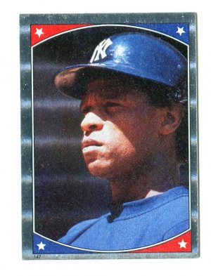 RICKEY HENDERSON 1987 Topps Sticker All-Star #147 New York NY Yankees