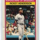 RICKEY HENDERSON 1989 Kay-Bee Superstars of Baseball #18 New York NY Yankees