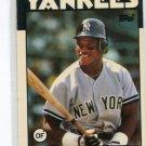 RICKEY HENDERSON 1986 Topps Tiffany Glossy #500 New York NY Yankees