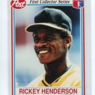 RICKEY HENDERSON 1990 Post First collector Series #25 Oakland A's