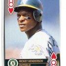 RICKEY HENDERSON 1993 Aces 8 HEARTS Oakland A's