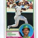 RICKEY HENDERSON 1983 Topps #180 Oakland A's