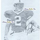 DERYCK TOLES Penn State Nittany Lions OLB 2000-03  -  8x10 AUTO Autograph