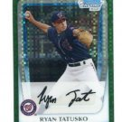 RYAN TATUSKO 2011 Bowman Chrome Prospects GREEN XFRACTOR SP #BCP127 ROOKIE Washington Nationals